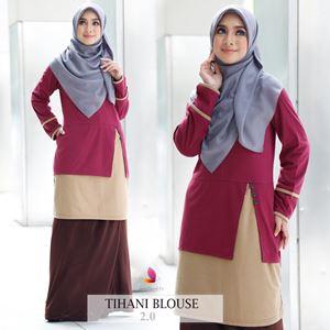 Tihani Blouse (Maroon)