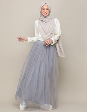 SYATY TULLE SKIRTS IN HARBOR GREY