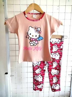 Pyjamas PLAIN HELLO KITTY ANGEL Peach - Short Sleeve (BABY 9-24m)