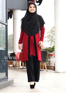AURORA IN VERSATILE WEAR (BLACK RED)