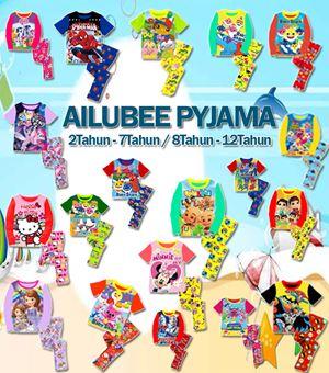 AILUBEE PYJAMA (A595-613) - (2T-7T & 8T-12T)