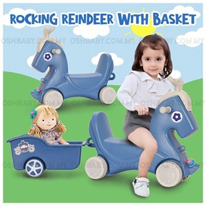 ROCKING REINDEER WITH BASKET