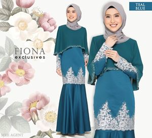 BAJU KURUNG FIONA EXCLUSIVE TEAL BLUE