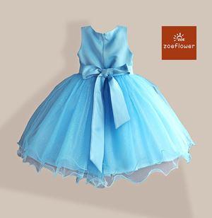 @  BLUE - WS-ZF201527-007 ZOE FLOWER DRESS (sz3-8)