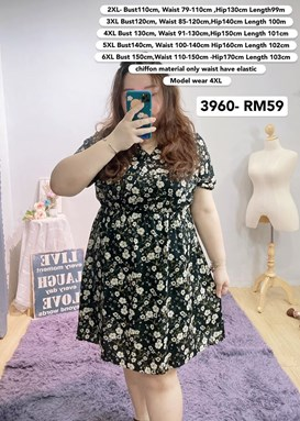 3960   *Bust 40 to 59 inch/ 100-150cm