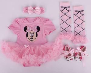 Romper Set 4pcs - Pink Minnie Mouse