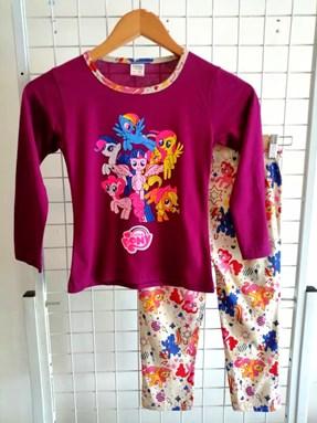 Pyjamas PLAIN LITTLE PONY Purple - Long Sleeve 1y-8y