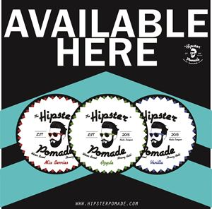 Hipster Pomade Display Sticker