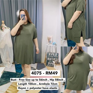 4075 * Ready Stock * Bust up to 56inch / 142cm