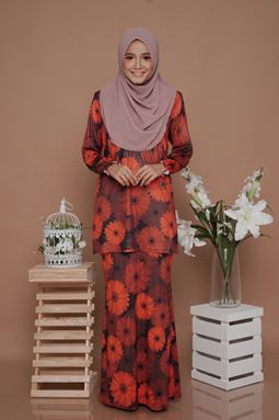 SALE - Diva Mini Kurung (DV206) - Nursing + Maternity ( XL)