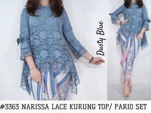 NARISSA LACE KURUNG TOP/ BATIK PARIO SET