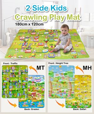 2 Side Kids Crawling Play Mat 120cm x 190cm