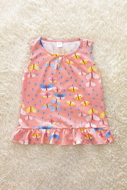 Baby Dress PEACH BUTTERFLY : (6m- 36m) TW