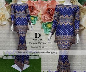 Kurung Batik Qaisara Royal Blue
