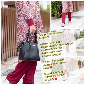 Casual Pant - DEEP RED - (Maternity Friendly)