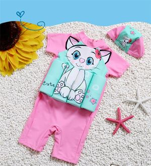 KITTY ECO CHILDREN FLOAT BUOYANCY  SWIMSUIT  FREE CAP