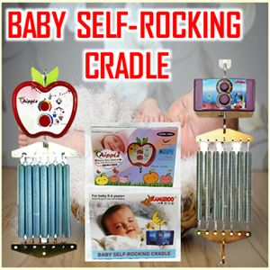 BABY SELF-ROCKING CRADLE (RANDOM COLOUR)