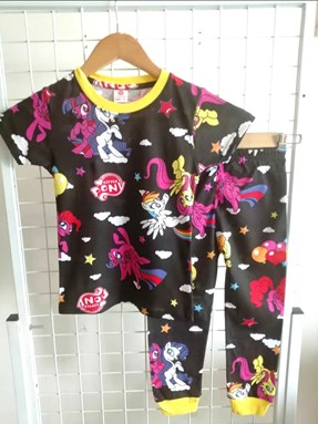 Pyjamas LITTLE PONY BLACK : BABY 12M - 36M