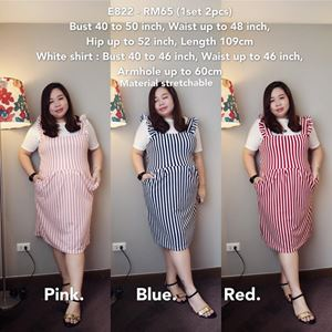 E822 *Ready Stock*Bust 40 to 50inch/101-127cm