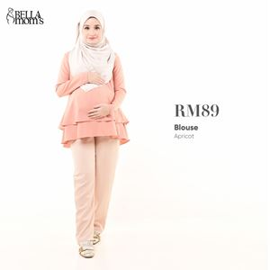 BELLA MOM'S BLOUSE (APRICOT)
