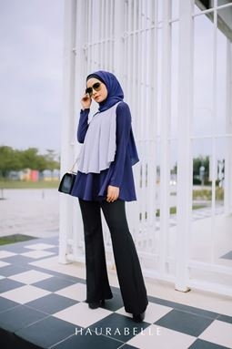 HANA BLOUSE-NAVY BLUE