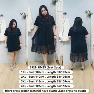 3929 *Bust 40 to 49 inch/ 102-126cm