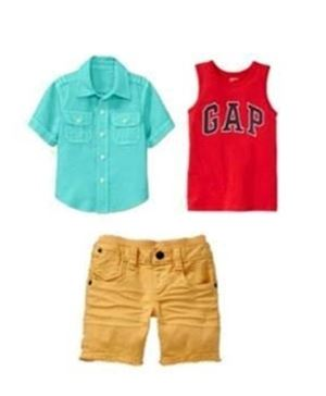 YELLOW PANT BOY 3 IN 1 SET ( 2 TOP + PANT )