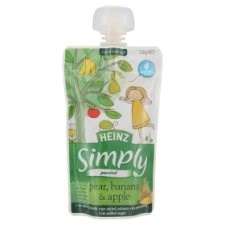 Heinz Simply Puréed Pear, Banana & Apple 4+ Months 120g