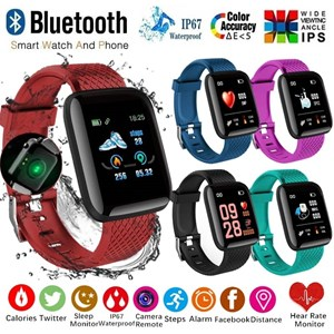 116plus Smart Bracelet Watch Heart Rate Monitor Blood Pressure Fitness Tracker