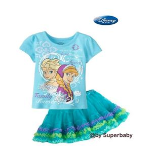 G 067/14 FROZEN 2PCS SET (top + skirt) - DESIGN B