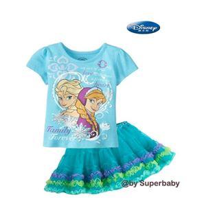 @  G067/14 FROZEN 2PCS SET (top + skirt) - DESIGN B
