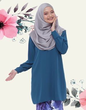 Emyra Blouse - Iris Blue