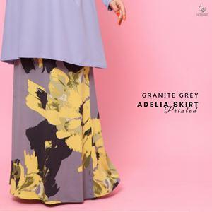 Adelia Skirt Printed : Granite Grey