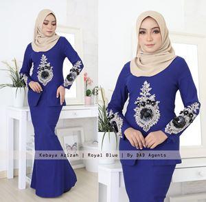 Kebaya Azizah Royal Blue