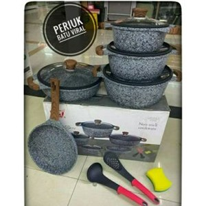 K&I Germany 12pcs Granite Line ( Periuk Batu Seramik )