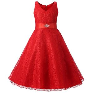 Girls Lace Princess Dress - RED ( SZ 130-160 )