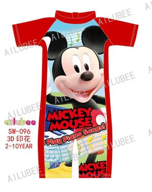 SW096 AILUBEE MICKEY RED SWIMMING SUIT ( SZ 2-10Y )