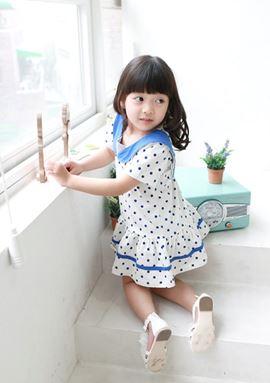 @  XZ3067  POLKA DRESS