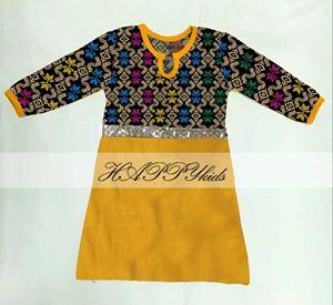 Dress Rompers - Songket Printed - Kuning