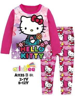 @  AILUBEE HELLO KITTY PINK  SLEEPWEAR ( A1135B  ) SZ  2Y - 12Y