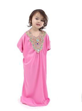 Kaftan Dress For Kids - Pink