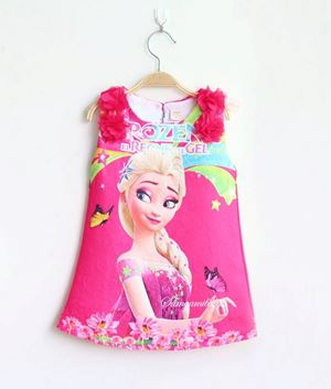 ELSA FROZEN ROSE DRESS