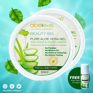 Aloeshafy Beauty Gel + Free Gift (Aloe Vera Oil)