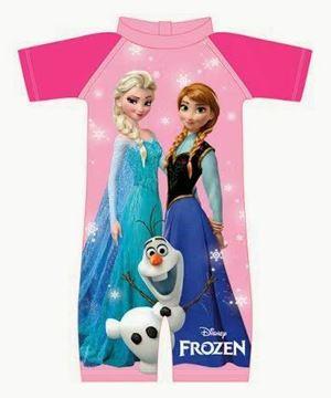 Frozen Swimming Suit - Elsa Anna & Olaf