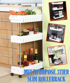 MultiPurpose 3Tier Slim RollerRack