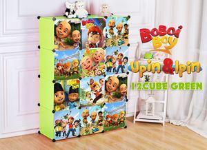 Boboboi/Upin&Ipin 12C Green DIY Wardrobe (BB12G)