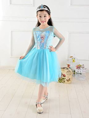 @  HT 101  FROZEN BLUE DRESS