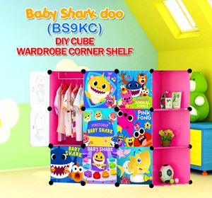 Baby Shark Doo PINK 9C DIY WARDROBE w CORNER RACK (BS9KC)