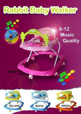 RABBIT MUSICAL BABY WALKER
