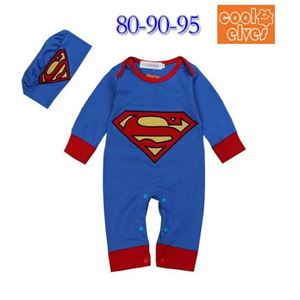 Superman Rompers by Cool Elves